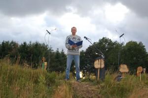 Mischa van Huijstee tijdens de maanavond op 27 juli 2009.