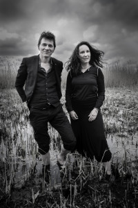 Dimitri Verhulst en Corrie van Binsberge. Zij gaan op tournee, met een nieuwe lp. Foto: Ben van Duin