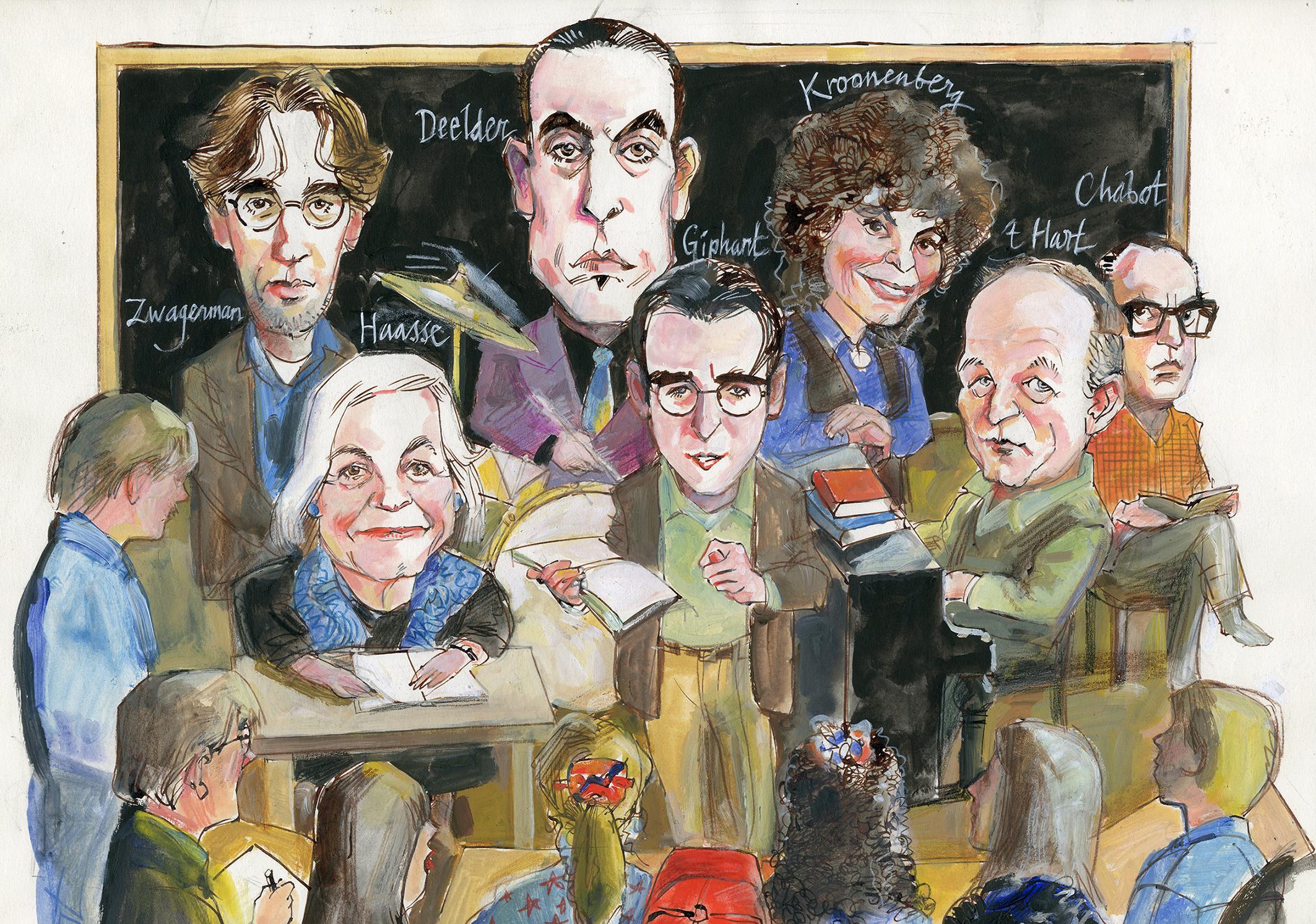 Literatuurmuseum verwerft en toont literaire karikaturen door Waldemar Post
