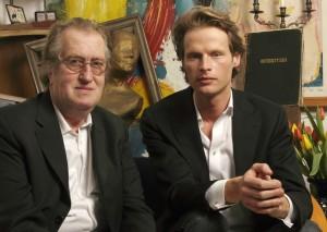Gerrit Komrij en Louis Gauthier. Foto: Ilse Joppen