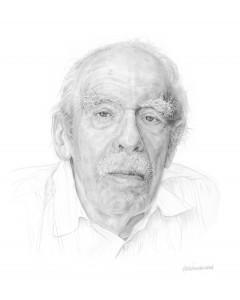 Het aangeboden portret, gemaakt door Kees Wennekendonk (zie ook www.keeswennekendonk.nl).