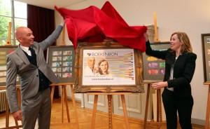 Tommy Wieringa en Esther Gerritsen. Foto: Jurgen Koopmanschap